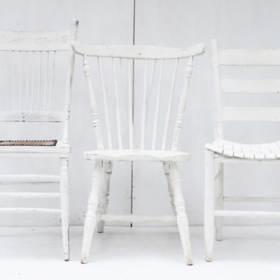 Vintage chairs white Liberty Vintage
