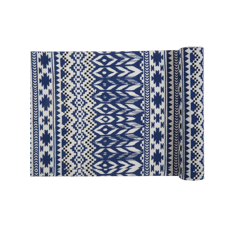 Table Runner Ethnic Blue Liberty Vintage